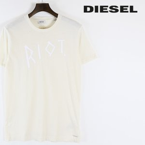 ディーゼル DIESEL Tシャツ カットソー メンズ クラッシュダメージ加工 穴あきクラッシュ 英字プリント 半袖 T-MICK|tutto-tutto