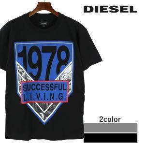 ディーゼル DIESEL Tシャツ メンズ ラウンドネック クルーネック プリント コットン 半袖 T-ALEXANDRE|tutto-tutto
