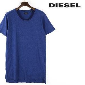 ディーゼル DIESEL Tシャツ カットソー メンズ シンプル ロング丈 ラウンドネック 半袖 T-MARCUSO-2|tutto-tutto