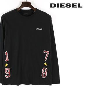 ディーゼル DIESEL 長袖Tシャツ カットソー メンズ ラウンドネック バックプリント ロンT T-JOE-LS|tutto-tutto