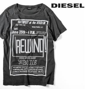 ディーゼル DIESEL 半袖Tシャツ カットソー メンズ クルーネック アシッドウォッシュ T-DIEGO-DC-QE|tutto-tutto