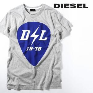ディーゼル DIESEL 半袖Tシャツ カットソー メンズ クルーネック プリントT コットン T-DIEGO-RB|tutto-tutto
