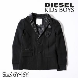 ディーゼルキッズ DIESEL KID テーラードジャケット ジュニア ボーイ 襟サテン 袖先リブ シングル 2ボタン 子供服 男の子 JOGLI|tutto-tutto