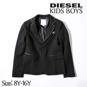 ディーゼルキッズ DIESEL KID テーラードジャケット ジュニア ボーイ 襟スタッズ装飾 シングル 1ボタン 子供服 男の子 JUDYX|tutto-tutto