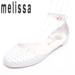 メリッサ プラスティックラバーサンダル 靴 レディース メッシュパンチング アンクルベルト フラット|tutto-tutto