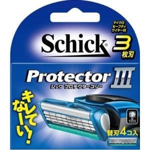 シック プロテクタースリー 替刃 (4コ入) 3枚刃 クリックポスト対応