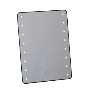 ブライトニングミラー タッチ ブラック YLD-2500【ヤマムラ化粧鏡手鏡】(10004827) プロ用美容室専門店|tuyakami