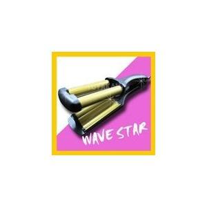 ウェーブミニアイロン WS-13 WAVE STAR ウェーブスター【マイナスイオン 遠赤外線】【手のひらサイズ コンパクト】(10005630) プロ用美容室専門店|tuyakami