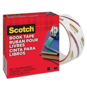 3M スコッチ 透明ブックテープ 厚手 50.8mm×13.7m 845 50|tweedia