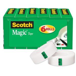 スコッチ メンディングテープ 19mm×25.4m 6巻パック 詰替え用 810K6|tweedia