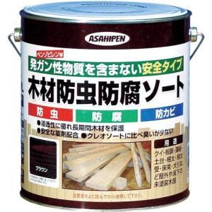 アサヒペン 木材防虫防腐ソート 2.5L ブラウン|tweedia