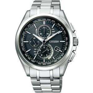 [シチズン]CITIZEN 腕時計 ATTESA アテッサ Eco-Drive エコ・ドライブ 電波時計 ダイレクトフライト 針表示式 薄型  マスコミモデル AT8040-57E メンズ|tweedia