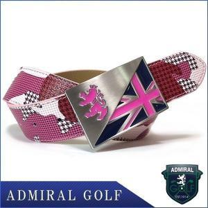 割引クーポン発行中 ベルト アドミラルゴルフ ADMB8SV1コラボ ピンク 迷彩 千鳥