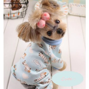 【1着メール便可】【犬服・ドッグウェア・秋・冬・シンプル・暖かい・プチプラ・犬用オーバーオール】あったかふわふわベビーオーバーオール