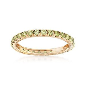 Ross-Simons 1.10 ct. t.w. Peridot Eternity Band in 14kt Yellow Gold|twilight-shop
