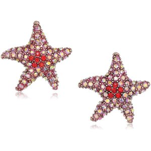 Betsey Johnson Women's Crabby Couture Pink Starfish Stud Earrings, Cor|twilight-shop