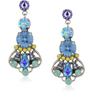 Sorrelli Womens Moonlit Shores Adorned Filigree Statement Drop Earring|twilight-shop
