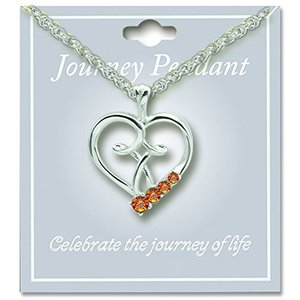 Cathedral Art JP211 November Topaz Birthstone Pendant with 18-Inch Sil|twilight-shop