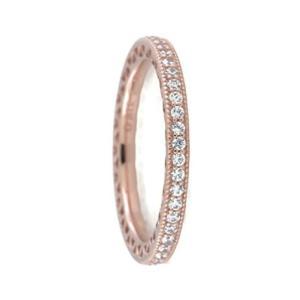 PANDORA Hearts of PANDORA Ring, Rose Gold And Clear CZ, 180963CZ (58)|twilight-shop