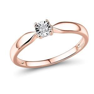 Diamond Ring in 10k Rose Gold 1/10 Carat|twilight-shop