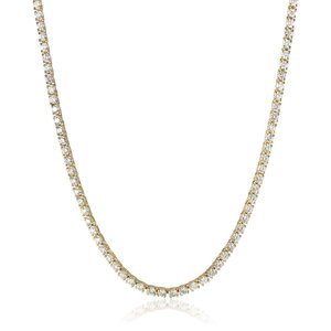 IGI Certified 14K Yellow Gold Diamond Tennis Necklace (9.00 cttw, H-I|twilight-shop