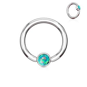 Opal Set Round Flat Cylinder WildKlass Captive Hoop Rings 316L surgica twilight-shop