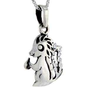 Sterling Silver Skunk Pendant, 1 inch tall