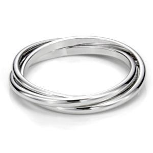 Metal Factory Sz 6.0 Sterling Silver Triple Interl...