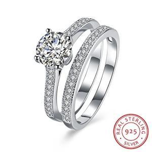 BALANSOHO Women 925 Sterling Silver Engagement Rin...