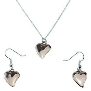Copper Earring & Pendant Heart Set 7th Anniver...
