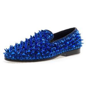 Jump Newyork Men's Lord Slip On Shoe Royal 10 D US