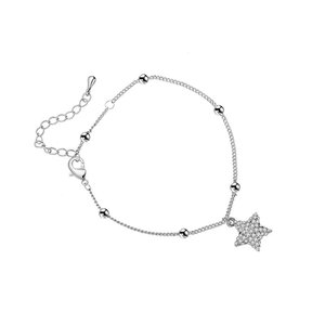 PORPI-JOJO Lucky Star Anklets for Women Adjustable...