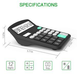 Calculator, Splaks 2 Pack Standard Functional Desktop Calculator Sola twilight-shop
