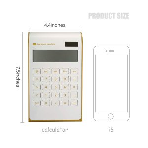 CAVEEN Calculator Ultra Thin Solar Power Calculator for Home Office De twilight-shop