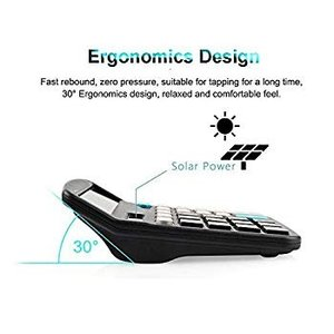 Calculator,12-Digit Solar Battery Basic Calculator,Solar Battery Dual twilight-shop
