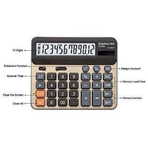 Comix Desktop Calculator, Large Computer Keys, 12 Digits Display, Cham twilight-shop