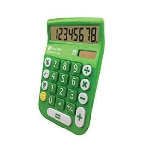 Office+Style A2DESKTOPGREEN 8 Digit Dual Powered Desktop Calculator, L twilight-shop