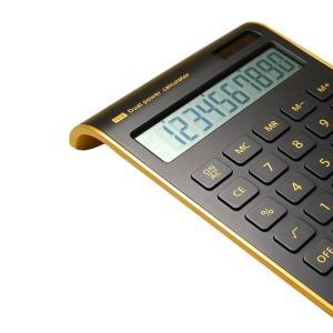 Hysada Elegant Design Black 10 Digits Dual Powered Desktop Calculator, twilight-shop
