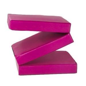 ピンク4?Thick Faux Leather Folding再生体操トレーニングクラッシュ安全マット???2?ft x 6?ft by Fun 。T twilight-shop