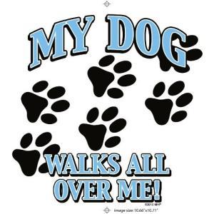 私の犬Walks All Over Me Tシャツ大人用男性/女性サイズ大|twilight-shop