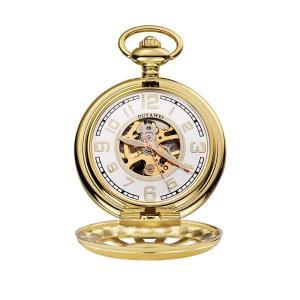 OUYAWEI 懐中時計 アンティークスタイル スケルトン 手巻き 機械式 懐中時計 ファッション カジュアル ポケット&フォブウォッチ Golden|twilight-shop