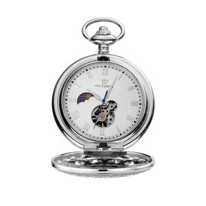 OUYAWEI ブランド 懐中時計 メンズ 機械式 手巻き 懐中時計 懐中時計 Fob 時計 Reloj De Bolsill|twilight-shop