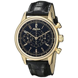 Alpinaメンズal860b4h5?Analog Display Swiss Automatic Black Watch|twilight-shop