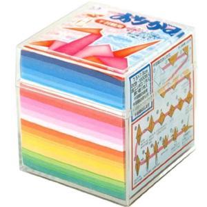 トーヨー 折り紙 千羽鶴用 プラケース付き 7.5cm角 20色 1000枚入 002004 twilight-shop