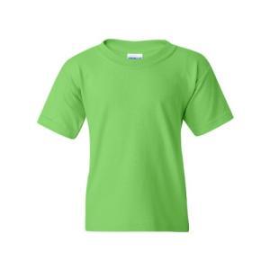 Gildan BoysヘビーコットンTシャツ(g500b) -lime-xs