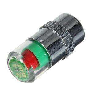 niceeshop(TM) タイヤ空気圧モニターバルブステムキャップセンサーインジケータ(ブラック4...