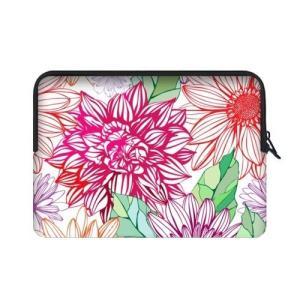特別設計15.6インチDahlia花ペイント花柄テーマポータブルラップトップ携帯ケーススリーブバッグ...