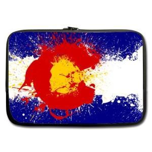 WECE 13インチコロラド州旗テーマポータブルラップトップ携帯ケーススリーブバッグfor MacB...