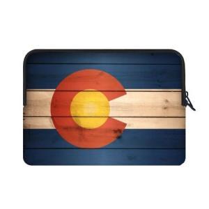 特別設計15.6インチコロラド州旗テーマポータブルラップトップ携帯ケーススリーブバッグfor Mac...