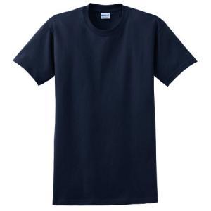 Gildanメンズウルトラテープネック防縮加工ジャージーTシャツ L ブルー